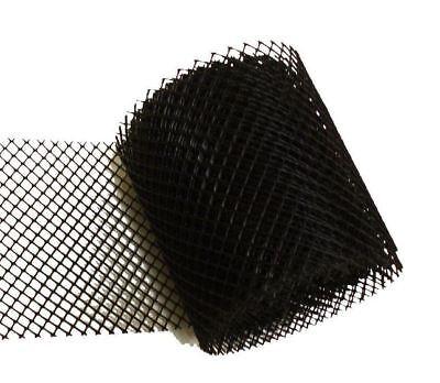 Gutter Guard Black Plastic Mesh Rain Leaves Screen Cover Protector 20 ft x 6 in