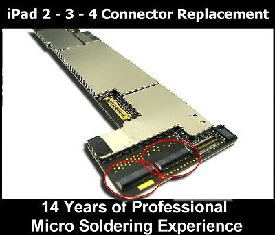 Apple iPad 2 3 4  DIGITIZER FPC Connector REPAIR Military talents 37 pin Motherboard