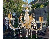 Lighiting 3 arm chandelier Crystal