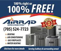 100% Right or 100% FREE Guarantee on Heating & Air Conditioning