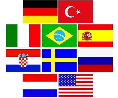 Bügelbilder Fahnen / Flaggen aller Länder zum selbst Aufbügeln für die EM