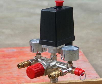 Druckschalter Kompressor Kompressoren Schalter Druckregler Set 240V 12 Bar