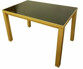 Glass Top small Dining Table 4 SEATER