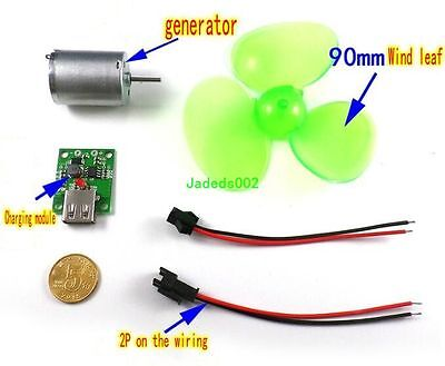 1set Micro Wind Turbine Dc Wind Power Generator Charging Combination Set