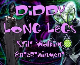 Diddy Long Legs - Stilt Walking Performance. Many costumed characters to choose from for your event.
