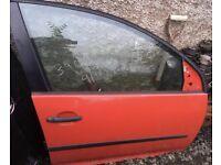 Mk5 golf red drivers door 5dr 2004-2008