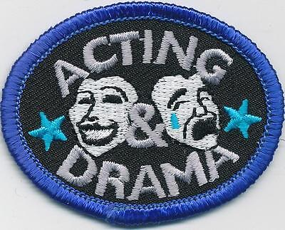 Girl Boy Cub Acting   Drama Fun Patches Crests Badges Scouts Guides Classes