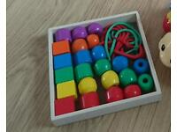 Melissa and Dough wooden lacing beads