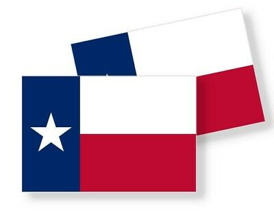 TEXAS STATE FLAG STICKER - Vinyl Decal - Choose Size - Set of 2 Stickers