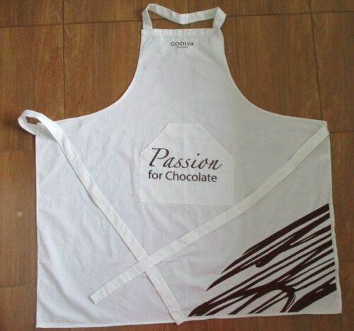 chocolate godiva uniform apron adult white full bib pocket tv show movie cosplay