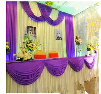 Luxury reception table cloth with swag drapes for wedding stage decorations](Table Decorations For Wedding Receptions)