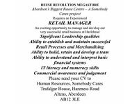 Somebody Cares SCIO - Retail Manager Wanted