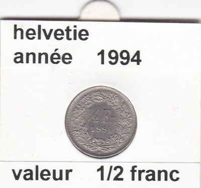 S 2 ) pieces suisse de 1/2 franc de 1994   voir description