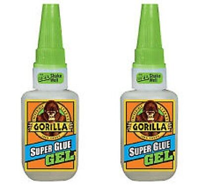 Gorilla Glue Super Glue Gel Big 15g Bottle No Run-control Lot Of 2