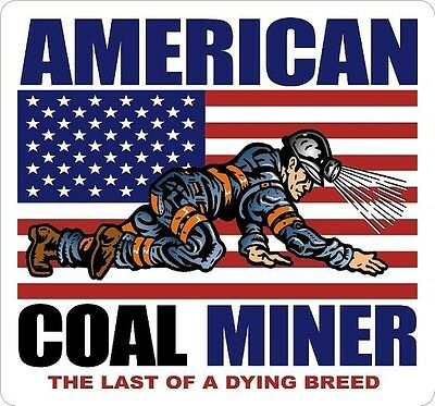 3 - American Coal Miner Dying Breed 2 Hard Hat Helmet Sticker H555