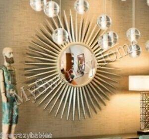 Extra Large 42 Quot Silver Sunburst Starburst Wall Mirror Xl