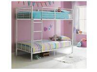 Maddison bunk bed. White metal.