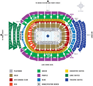 Toronto Maple Leafs Tickets Tonight Section 315 ROW 1!