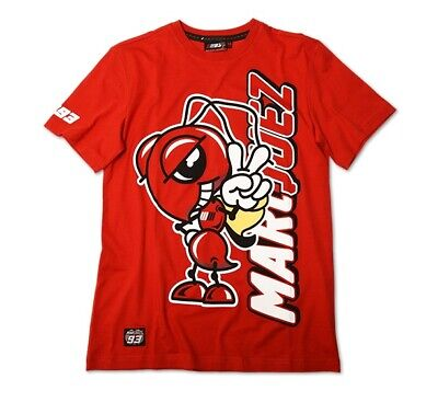MENS T-SHIRT MARC MARQUEZ 93 RED XL OFFICIAL MERCHANDISE 100% COTTON