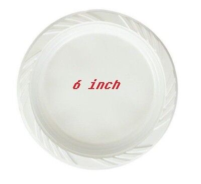 White 6'' Plastic Party Plates Disposable Dinner Wedding Plastic Dishes - White Plastic Plates