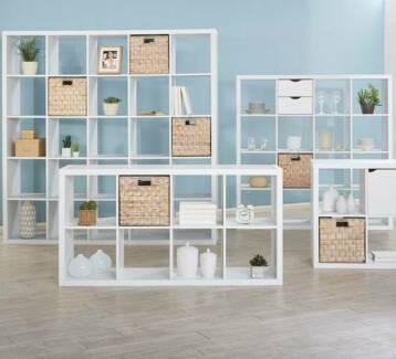 Fantastic Furniture Matrix 8 Shelf Cube Bookshelf White Gloss Revesby Heights Bankstown Area Preview