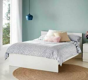 FREE DELIVERY Double Bed AND MATTRESS WHITE COLOR