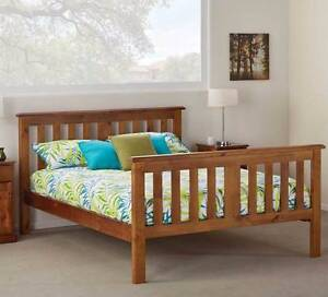 wooden queen bed frame Rose Bay Eastern Suburbs Preview
