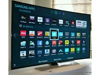 """SAMSUNG Curved 55"""" LED 4K UHD Smart tv wifi built USB MEDIA PLAYER HD FREEVIEW."""
