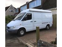 02 Mercedes sprinter 308 cdi mwb semi high top camper van campervan conversion transporter