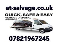Scrap my car Hertfordshire scrap a car collection available a.t salvage all cars vans wanted