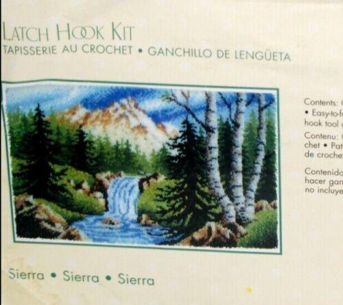 Caron Wonder Art Latch Hook Rug Kit 4425 Sierra Mountain Stream Scenic 30x50