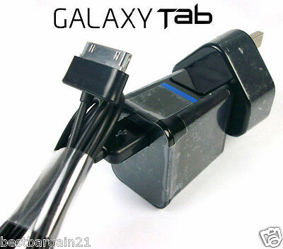 "USB Wall Charger Adapter Cable For Samsung Galaxy Tab 2 Tablet 7"" 8.9"" 10.1 Note"