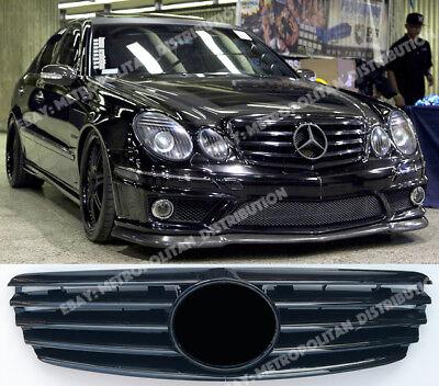 Mercedes E w211, 2002-06 Rejilla, Negro Brillante + Grande Star: AMG : E55; E63; segunda mano  Embacar hacia Spain