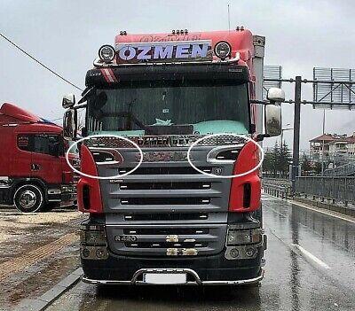 Scania 2005-2009 Grille Ventilation Frame Super Polished Stainless Steel 2 Pcs Grille Polished Stainless Steel Frame