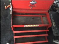 Red snap on tool chest