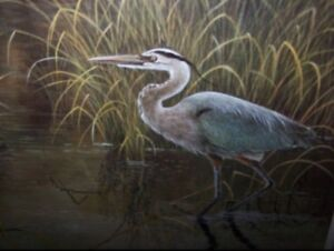 """1989 Limited Edition Print """"Heron"""" Framed  by Alfred S Chau"""