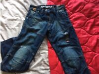 Red Route Kevlar Motorcycle Jeans UK32
