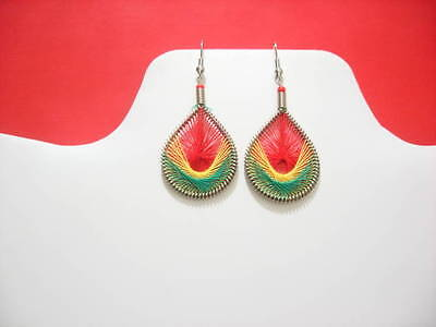 Wholesale of 12 pairs of Africans colors Handmade thread earring Assorted Sizes