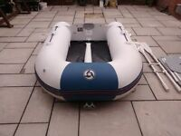 INFLATABLE DINGHY YAMAHA YAM 240 , INFLATABLE KEEL , WILL TAKE OUTBOARD , DINGY BOAT TENDER RIB