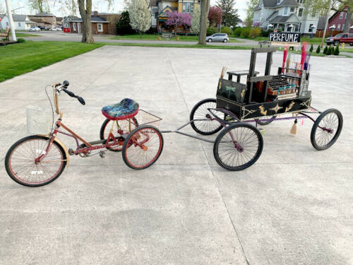 Victorian S.R. Bailey Wagon Pony Mini Horse Drawn Carriage Tricycle & Yoke