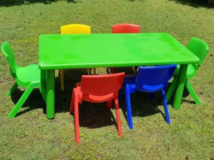 Kids table and 6 chair set