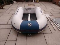 INFLATABLE DINGHY YAM 240 , YAMAHA 240 2.4 METERS , DINGY , TENDER , RID , BOAT WIL TAKE OUTBOARD