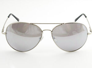 SILVER MIRROR Mirrored Lens Metal AVIATOR SUNGLASSES CLASSIC Retro UV400 Vintage