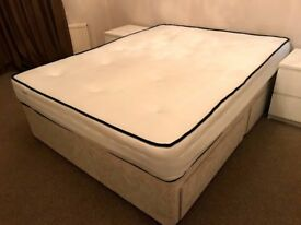 King Mattress and Base with Storage