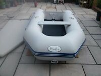 INFLATABLE DINGHY BOAT WAVE ECO 3 METER 4 MAN WITH MERCURY 5HP OUTBOARD , TENDER RIB SIB DINGY