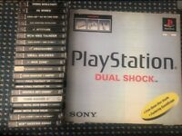 Boxed PS1 & 18 games.