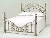 Florence - Metallic Brass Double/Kingsize Bed