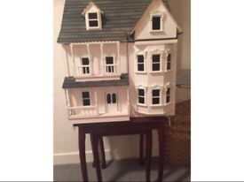 Wooden antique dolls house