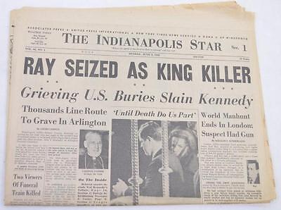 Sunday June 9 Indianapolis Star newspaper James Earl Ray MLK assassin... Lot 317