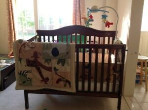 Solid baby crib